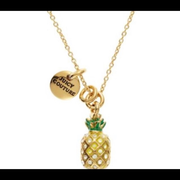 Juicy Couture Jewelry - 🌈3/$45🌈 Juicy Couture Pineapple wish necklace.
